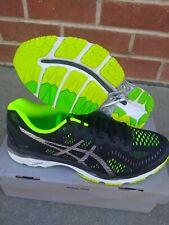 Asics Men's running shoes Gel Kayano 23 Black Silver Safety Yellow Size 12 us