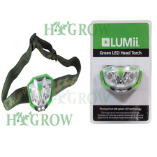Lumii Hydroponic Grow Room Green Light LED Head Torch plant safe lighting hydro
