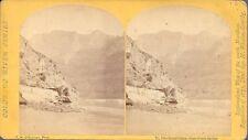 T H O'Sullivan Stereo, Wheeler Expedition – Grand Canon above Grotto Spring 1871