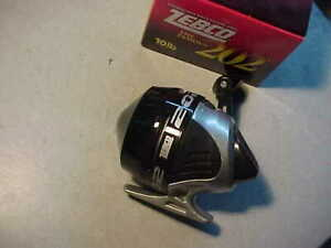 NEW Zebco 202 Reel, Comes w/10 lb test  #202CP DIAL ADJUSTMENT DRAG SS
