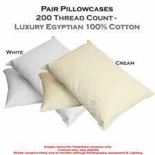 Patternless Contemporary 100% Cotton Pillow Cases