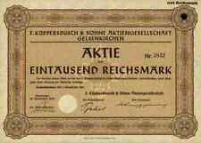 F. Küppersbusch & Söhne 1941 Gelsenkirchen Dortmund Trier Wels 1000 RM Lipsheim
