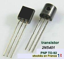Transistor 2N5401 ou 2N5401B ou 5401 polarité PNP boitier TO-92 150V 0.3A .C21.1