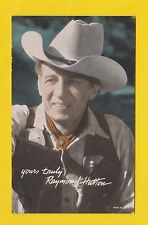 ACTORS - POSTCARD SIZED CARD - WESTERNS / COWBOY FILMS  -  RAYMOND  HATTON