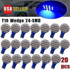 20x Ultra Blue 24-SMD T10 Car Camper LED Spotlight Interior Light Bulb US