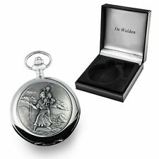 Boys Christening Gift, Engraved St Christopher Pocket Watch Christening Present