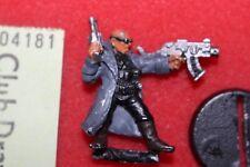 Necromunda Delaque Gang Leader with Boltgun Games Workshop Metal Figure 90s OOP