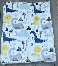 Modern Baby Dinosaur Lovey Brontosaurus Baby Security Blanket white Sherpa