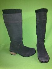 Brown Nubuck Fly London Boots with Side Vent Zipper 6.5 37