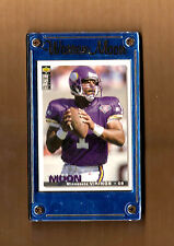 Warren Moon Customized 4 Screw Football Card Holder Gold Name w/ Free Card