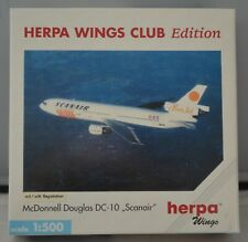 "HERPA WINGS CLUB 1999 exclusive DC-10 ""SCANAIR"",1:500 Limited edition"