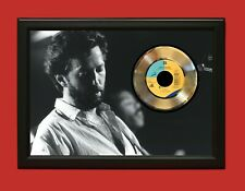Eric Clapton 2 Poster Art Wood Framed 45 Gold Record Display C3