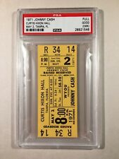 1971 Johnny Cash Concert Ticket Tampa Florida PSA 2
