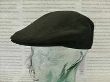 Lacoste Flat Cap Piqué Boina Sombrero Negro De Algodón Para Hombre Talla S o M Tapas BNWT R £ 60