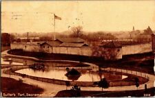 1914. SUTTER'S FORT. SACRAMENTO, CA. POSTCARD SC19