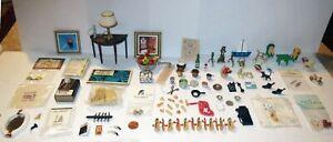 HUGE DOLLHOUSE LOT Vintage & Antique - ARTIST MINIATURE ACCESSORY & FURNITURE