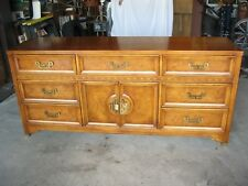 Henry Link Vintage Asian Dresser, Bed, Mirror Mandarin Chinoiserie Chinese