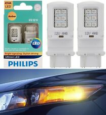 Philips Ultinon LED Light 4114 Amber Orange Two Bulbs DRL Daytime Replacement