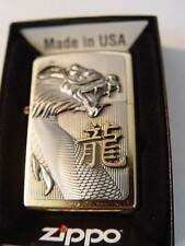 Zippo ® Golden Dragon Drache Platte Brass FANTASY  Neu / New OVP