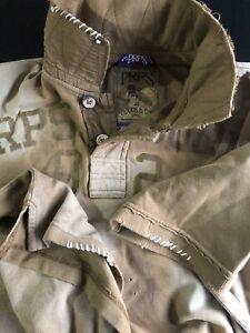 PRPS Goods 2-Button Shirt Men's Size M-L Distressed Rare