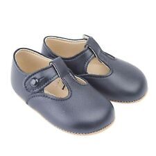 Early Days Alex Pre Walker T-bar Leather Baby Shoes, Pram Baby Shoes, Made in...