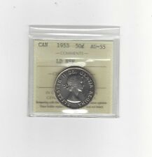 **1953 LD/NSF**ICCS Graded Canadian Silver 50 Cent, **AU-55**