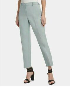 DKNY Womens Sz 6 The Essex Ankle Pants Slim Leg Pistachio Green Career