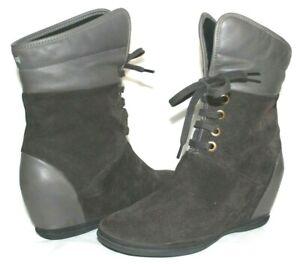 ❤️CAMPER Spiral Eses Kenia Grey Suede Lace-Up Zip Boot 6 US 36 EU GREAT! L@@K!06