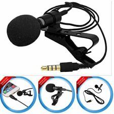 Mini Lapel Microphone Metal Plug 3.5mm Mobile Phone iPhone PC Recording US