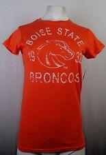 Boise State University Broncos Women's Short Sleeve Orange TShirt NCAA S M L XL