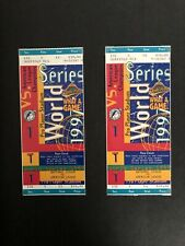 (2) 1997 World Series Game 1 Florida Marlins vs Cleveland Indians Full Tickets