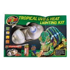 New listing Zoo Med Tropical Uvb & Heat Lighting Kit for Reptiles with Blubs