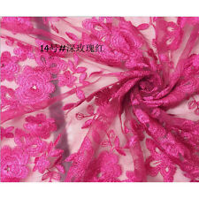 3 Yard Organza Polyester Venise Lace Fabric Wedding Dress 51'' Wide