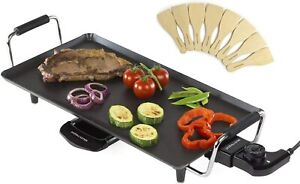 Teppanyaki Electric Grill Plate | Large Non-Stick Tabletop Griddle Andrew James