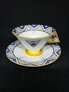 Shelley Art Deco Vogue Teacup And Saucer