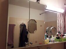 Spiegelschrank weiß Badezimmerschrank 2türig mit großem Spiegel u. Ablage
