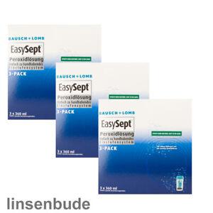 1 - 3 x EasySept 3-Pack a 3 x 360ml Peroxidlösung von Bausch + Lomb MHD 2023/04