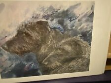 Scottish Deerhound Pencil Signed Limited Edition 11x14 Print By Van Loan
