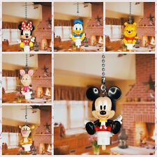 Mickey Minnie Donald Winnie Ceiling Fan Pull Light Lamp Chain Decoration Set6