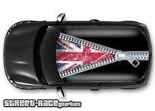 1101 Car roof vinyl wrap printed sticker - Mini Cooper Zipper Union Jack