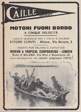 Z2974 Motori fuori bordo CAILLE - Pubblicità d'epoca - 1921 vintage advertising