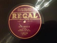 """GIUSEPPI DI SILVA (cello solo) """"Ave Maria""""/ """"Chanson Triste"""" 78rpm 10"""" 1927 EXC+"""