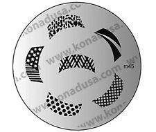 1 IMAGE PLATE M45 Konad Stamping Nail Art Design Nails