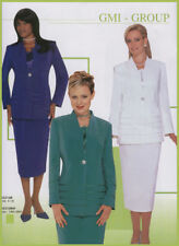5th Sunday/Communion Bride/Bridal WHITE w-FREE GLOVES 3pc Skirt Suit 26W/XXXX/4X