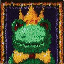 Frog Prince Latch Hook Rug Making Craft Kit