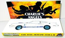 GREENLIGHT 1976 FORD MUSTANG COBRA 2 Charlie's Angels Jill CUSTOM DISPLAY STAND