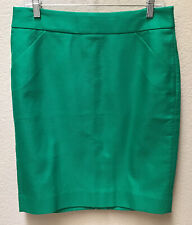 J Crew NWT The Pencil Skirt Straight With Pockets Women's Size 8 Green NEW