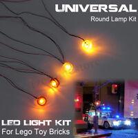 Universal 4 LED Light USB Lighting Kit For Lego Toy Bricks Round Lamp Type