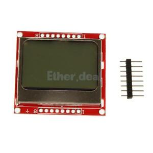 84*48 LCD Display Screen Module Red Backlight Adapter for Nokia 5110 STM32