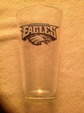 "BUDWEISER BEER NFL PHILADELPHIA EAGLES SOUVENIR 6"" PINT GLASS"